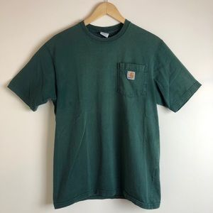 Carhartt Men's Forest Green Pocket Tee Shirt